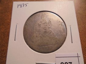 1875 Seated Liberty Half Dollar