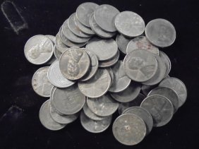 Roll Of 50-1943 Lincoln Steel War Cents
