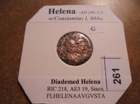 249-329 A.d. Helena Ancient Coin
