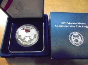 2011-p Medal Of Honor Proof Silver Dollar Original Us