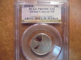 2010-s Grand Canyon N.p. Quarter Pcgs Pr69 Dcam
