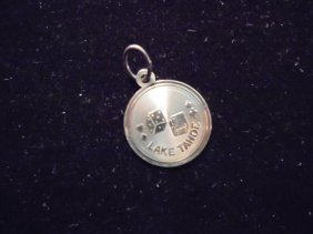 14 Kt. Gold Lake Tahoe Charm Approx. .7 Gram