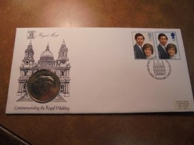 1981 Royal Mint 1st Day Cover With Medal Commemorating