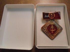 East German Social Achievment Medal As Shown