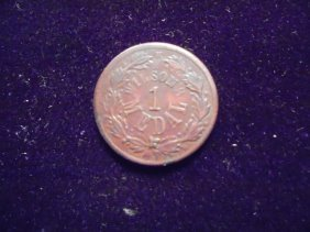 1863 Civil War Token Wilson's 1 Medal