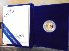 1998-w $5 Gold Proof American Gold Eagle 1/10 Oz.