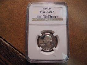 1956 Washington Silver Quarter Ngc Pf69 Star