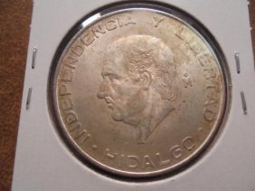 1956 Mexico Silver 5 Pesos .4178 Oz. Asw
