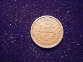 Civil War Token Army And Navy/the Federal Union