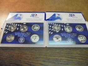 2003 & 2004 Us 50 State Quarters Proof Sets With