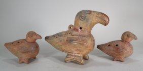 3 Costa Rican Bird Flutes, C. 800-1200 Ad