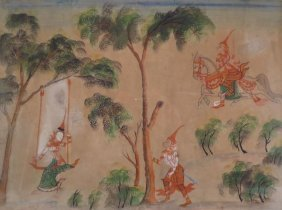 2 Southeast Asian Paintings On Paper