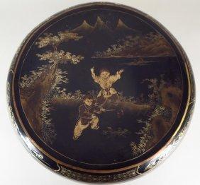 Large Round Chinese Laquer Box