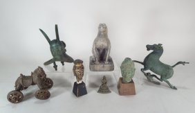 Group Of Asian Artifacts 19th C. And Later.
