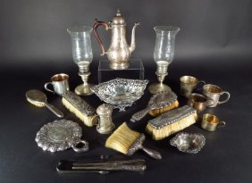 Sterling Silver Tiffany & Co Partial Dresser Set