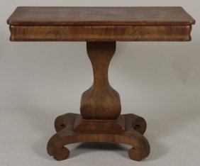 Empire Mahogany Hall Table, L 19th-e 20th C.