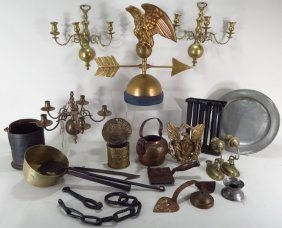 Lot Of Metal Items, 19th C/early 20th C.