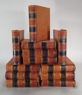 12 Leather Bound Volumes Of Bancrofts Works 1887