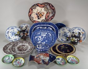 Assortment Of 18 English/asian Objects,19-20th