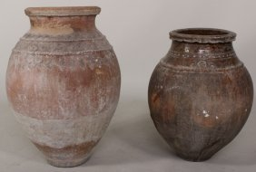2 Large Terracotta Urns, Probably Continental