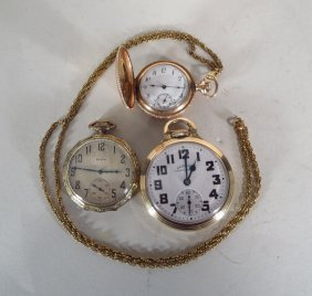 Lot Of 3 Gold Filled Pocket Watches