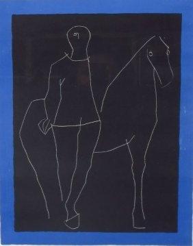 Marino Marini, Horse And Rider Lithograph