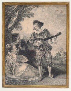 Pair Of Pastoral Engravings Of Musicians