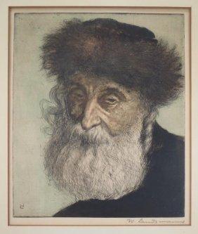Landsmann Engraving Portrait Of A Rabbi