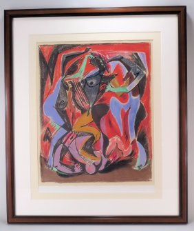 "Andre Masson, ""orpheus"" Lithograph, Signed."
