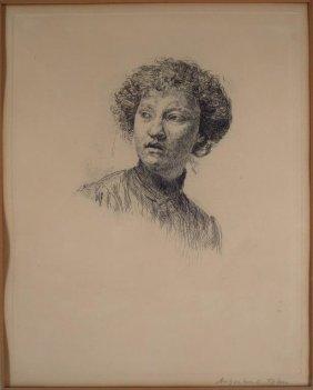 August Edwin John, 1878-1961, Etching