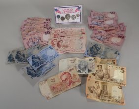 Currency Lot, American And Israeli