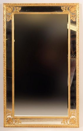 Continental Style Gilt Wood Mirror