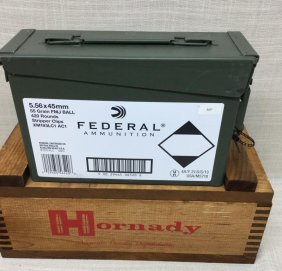 Federal Ammunition 420 Rounds Of 5.56 X 45 Mm With Ammo