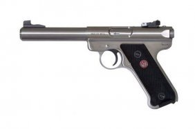 Ruger Mark Iii Stainless Steel .22lr Target Pistol