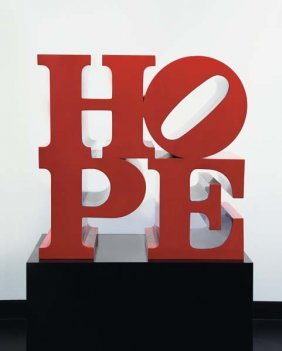 ROBERT INDIANA, Hope (Red-Blue), 2009