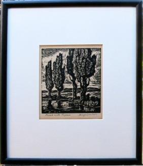 Brook with Poplars
