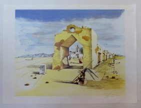 Salvador Dali Surrealist Lithograph Signed