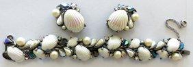 40\'s Schiaparelli Earring & Necklace Set