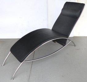 Modernist Sleek Chaise Lounge W/ An Adjustable Back