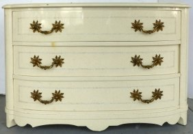 Lacquered Dresser W/ Ornate Brass Hardware