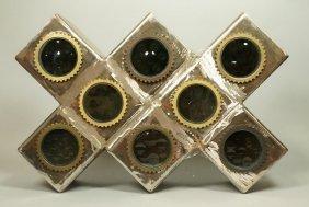 Bejar Industrial Steel Magiscope Block Sculpture