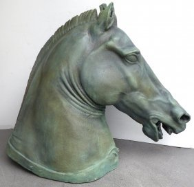 Large Horse Head Sculpture After The Donatello Bronzes