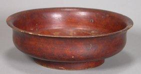 19th Century, Antique Burlwood Offering Bowl