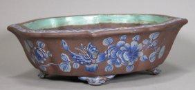 19th Century, Yi-xing Pottery Flower Pot