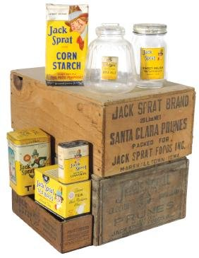 Advertising Tins, Boxes, Etc (9), All Jack Sprat, Most