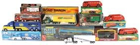 Toy Trucks (11), AMT Sealed Kit, Fruehauf Semi-trailer,