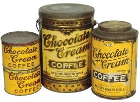 Country Store Coffee Tins (4), All Chocolate Cream