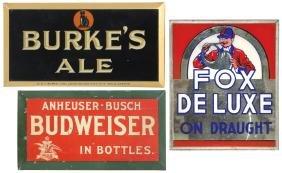 Breweriana Signs (3), Fox De Luxe, Anheuser-Busch