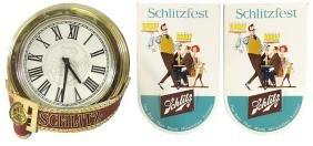Breweriana Clock & Signs (3), Schlitz Molded Plastic