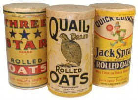 Rolled Oat Containers (3), Jack Sprat-Marshalltow
